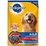 Pedigree Adult Complete Nutrition Steak and Vegetable Flavor Dry Dog Food Bag, 17-Pound
