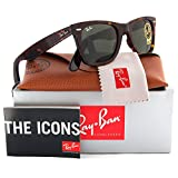 Ray-Ban RB2140 Wayfarer Sunglasses Shiny Tortoise w/Crystal Green (902) RB 2140 902 54mm