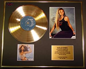 beyonce cadre disque d or vinyle photo et livret edition limitee certificat d