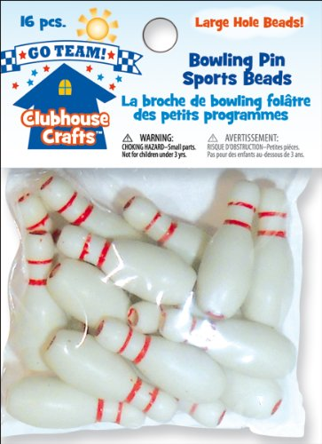 Sulyn Clubhouse Sports Beads: Bowling Pins