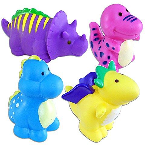 Bath Buddy Dino Squirters-Set of 4! Triceratops, Pteranodon, Brachiosaurus, T-Rex/BATHTIME/Prizes or Party Favors
