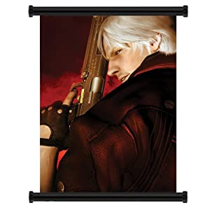 "Devil May Cry Anime Game Fabric Wall Scroll Poster (16"" x 21"") Inches"