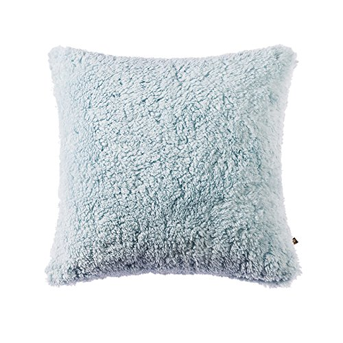 OJIA Deluxe Home Decorative Super Soft Plush Faux Fur Throw Pillow Cover Cushion Case (24 X 24 Inch, Light Blue ) (Light Blue Faux Fur compare prices)