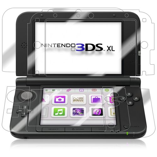 Iq Shield Liquidskin - Nintendo 3Ds Xl Screen Protector + Full Body (Front And Back) With Lifetime Replacement Warranty - High Definition (Hd) Ultra Clear Console Smart Film - Premium Protective Screen Guard - Extremely Smooth / Self-Healing / Bubble-Free