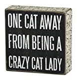 Primitives by Kathy Box Sign, 5-Inch by 5-Inch, Cat Lady
