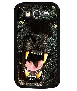 PRINTVISA Black Panther Premium Metallic Insert Back Case Cover for Samsung Galaxy Grand 2 - G7102 / G7105 - D6017
