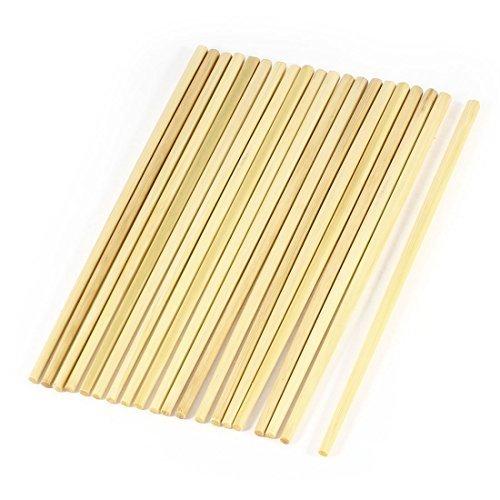 10 Paires 24 cm Beige cuisine traditionnelle de baguettes chinoises en bambou