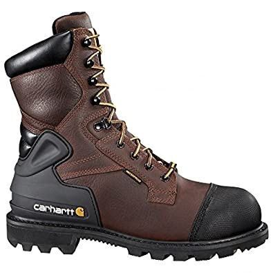 "Carhartt Men's CMR8859 8"" Work CSA,Brown Pebble Oil Tanned,US 9.5 W"