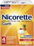 Nicorette 4 mg Gum, Fruit Chill, 160 Count