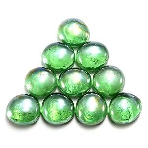 Water & Wood 10pcs Gorgeous Fish Tank Aquarium Decor Landscaping 16mm Glass Marbles Beads Balls