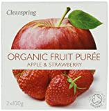 Clearspring Organic Apple and Strawberry Fruit Puree 2x100 g (Pack of 12)