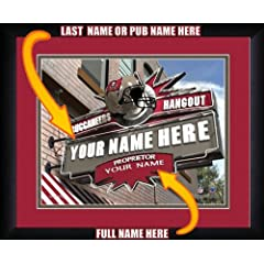 NFL Personalized Sports Pub Custom Framed Hangout Print Tampa Bay Buccaneers by You