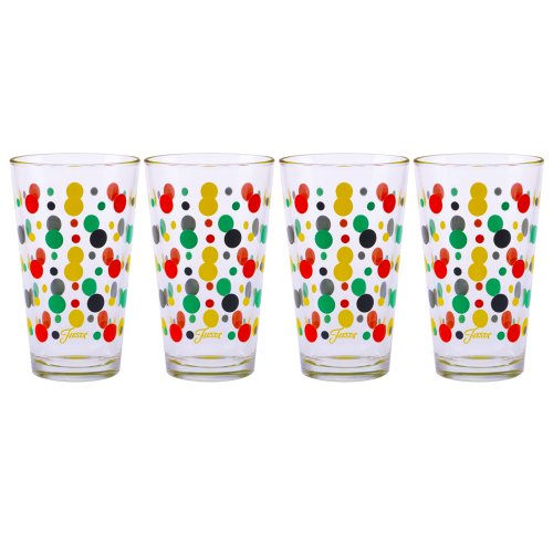 Fiesta Multi-Color Dot Tapered Cooler, 16-Ounce, Set Of 4