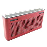 PU Leather Carry Sleeve Bumper Protective Skin Cover Case Bag for Bose Soundlink III 3 Bluetooth Wireless Speaker (Red)