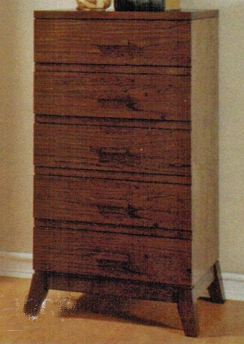Lingerie Bedroom Chest with Taper Legs in Espresso Finish