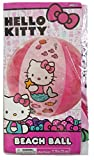 Hello-Kitty-Mermaid-Style-Swim-Bundle-of-2-Pool-Or-Beach-Items-Inflatable-Split-Ring-and-Beach-Ball