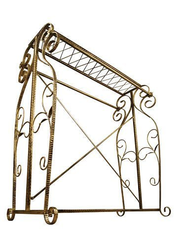 Brand New Free Standing Decorative Antique Bronze Iron Garment Coat Rack (Y009D) 6