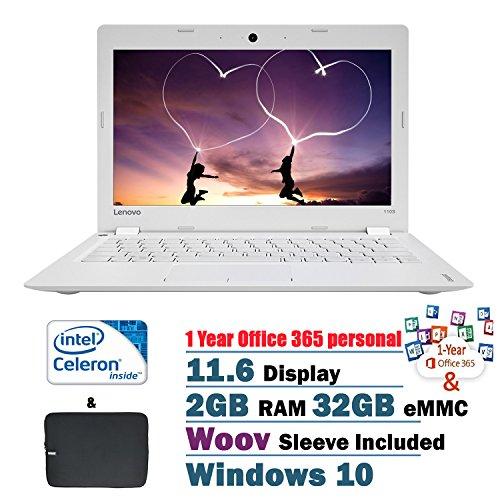 2017 Lenovo Flagship Ideapad 110s 11.6 Inch HD Laptop PC, Intel Celeron N3060 Dual-Core, 2GB RAM, 32GB EMMC, Intel...