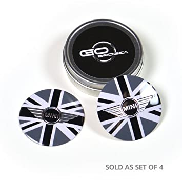 Premium Chrome Alloy Dust Caps with Transformer Silver Logo Set of 4