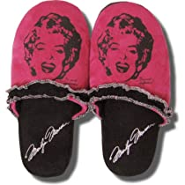Marilyn Monroe Pink and Black Slippers