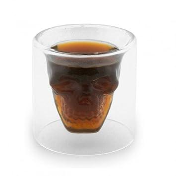 5 4x verre alcool tete tete mort head shot skull. Black Bedroom Furniture Sets. Home Design Ideas