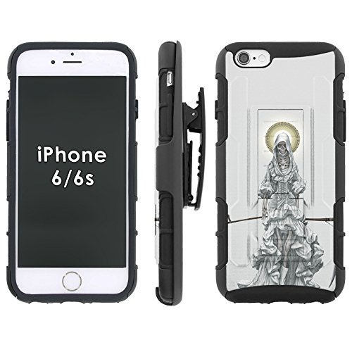 Santa Muerte – Blitz Hybrid Armor Phone Case for [iPhone 6/6s 4.7-inch] with Kickstand and Holster