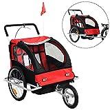 2 in 1 Kinderfahrradanhänger Fahrradanhänger Kinder-Fahrrad-Jogger Kinder Anhänger Kinderanhänger