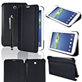 TOPGADGETSUK Cheap Samsung Galaxy Tab 3 7.0 7-inch Book Cover Case Leather Stand, Bonus: Screen Protector + Stylus Pen (for Galaxy Tab 3 7