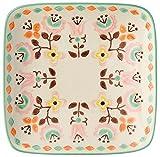丸和貿易 北欧風角皿 ピエネネカフェ スクエアープレート フラワー 600147002