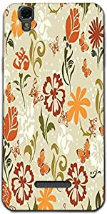 Snoogg Pattern Vector Element Designer Protective Back Case Cover For Microma...