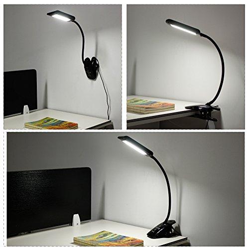 Kedsum Dimmable Led Desk Clip Light Clamp Lamp 5 Lighting