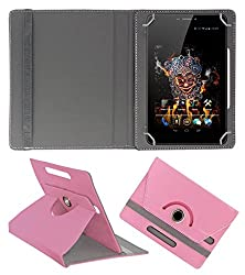 ACM ROTATING 360° LEATHER FLIP CASE FOR ICE D3 SPECTRA TABLET STAND COVER HOLDER LIGHT PINK