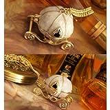 Vktech Lovely Vintage Magical Cinderella's Pumpkin Carriage Long Necklace Can Open