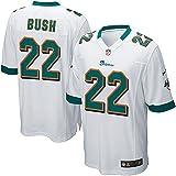 Reggie Game Dolphins Jersey White Miami 22 Bush Youth - (M)