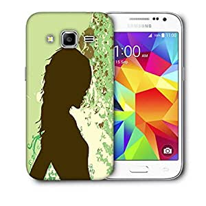 Snoogg Girl In Green Printed Protective Phone Back Case Cover For Samsung Galaxy Core Plus G3500