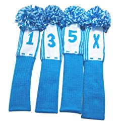 Spirit of Colors Knitted Head Covers, University Series (Driver 460cc, 3 Wood, 5 and... by Spirit of Colors