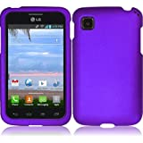 Super Purple Hard Case Cover Premium Protector for LG Optimus Dynamic II LG39C L39C (by Net 10 / Tracfone / Straight... by LG