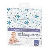 Bambino Mio Blue Stars - Muselinas, 70 x 70 cm, pack de 4 unidades