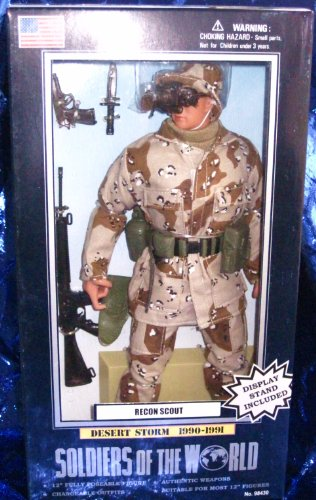 Buy Low Price Formative International Soldiers of the World Recon Scout Desert Storm 1990-1991 12″ Action Figure (B000NKU0MU)