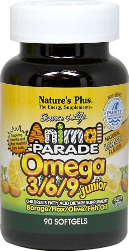 Nature's Plus Animal Parade Omega 3-6-9 Junior-90 Softgels (Animal Parade Omega 3 compare prices)
