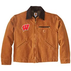 NCAA Wisconsin Badgers Mens Sandstone Detroit Jacket by Carhartt