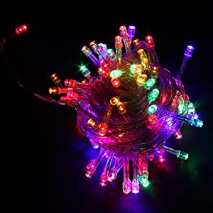#!Cheap 100 LED Multi-color Christmas Light Mix-color Holiday String Lights for Party Room Garden Home Christmas Decoration