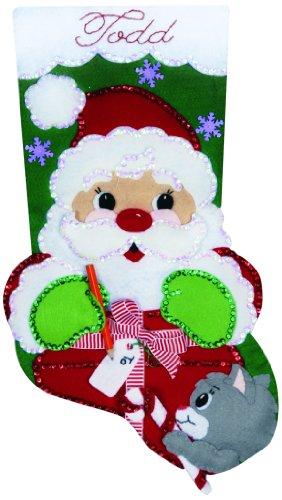Cadeau du père Noël Jersey Applique feutre Kit-18