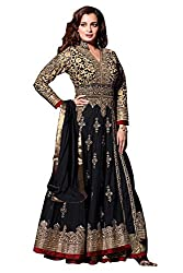 Designer Black Colored Anarkali Suit