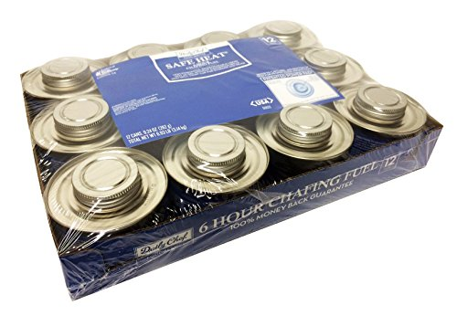 Lowest Price! Daily Chef Safe Heat 6 Hour Chafing Fuel (Pack of 12)