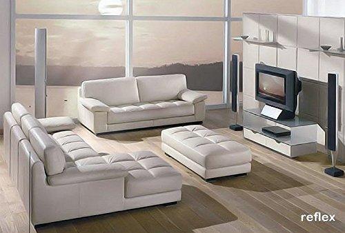 Calia Maddalena - Fauteuil 98x88x90cm pour Canapé classique confortable Reflex, Cuir Série Buffle Vert