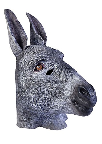 Adult Latex Donkey Mule Farm Animal Mask Costume Accessory