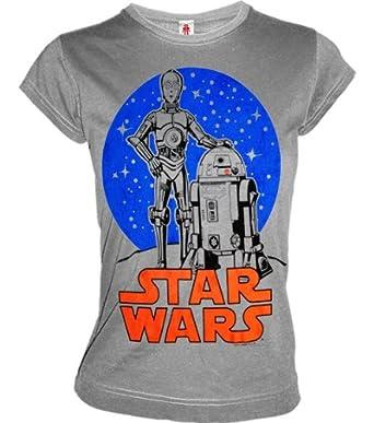 cooles logoshirt damen girl t shirt star wars droids. Black Bedroom Furniture Sets. Home Design Ideas