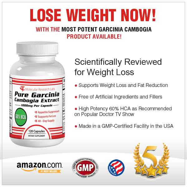amazon garcinia cambogia pure extract molecular research labs