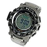 PRO TREK CASIO カシオ プロトレック メンズ 腕時計 MULTI FIELD LINE 電波ソーラー チタン PRW-3500T-7DR シルバー×ブラック 海外モデル 並行輸入品 [並行輸入品]